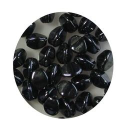 Pinch Bead. 3x5mm. Hematite