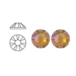 SWAROVSKI ELEMENTS Swarovski Rhinestones Light Topaz AB SS34. 7.1mm.