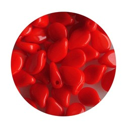 Pip Bead. 5x7mm. Opaque red for 20 pieces