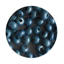 Preciosa drop beads 5/0 blue lustered about 25 grams for