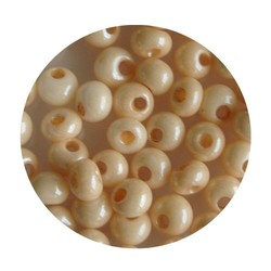Preciosa drop beads 5/0 champagne lustered about 25 grams for