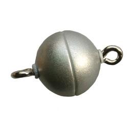 Magnetverschluss. Matt Silber. 10 mm. nicht für Personen mit Herzschrittmachern