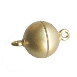 Magneetsluiting. Mat goud. 10 mm. (niet voor mensen met pacemaker)