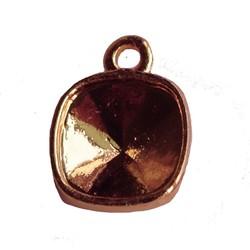 Hanger Square. 12x15mm. für 1x Stein 4470-10mm. Schwere Überzug. Rose Gold