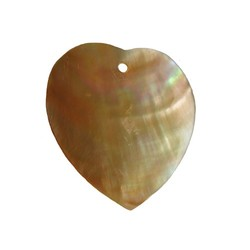Heart pendant made of shell 32mm.