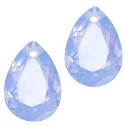 Facetgelepen Teardrop-Anhänger 10x14mm Sapphire Blue Opal