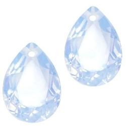 Facetgelepen drop-shaped pendant 10x14mm Lt. Sapphire Blue Opal