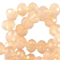 Geslepen Rondelle 3x4mm Light Peach Opal 10 stuks voor