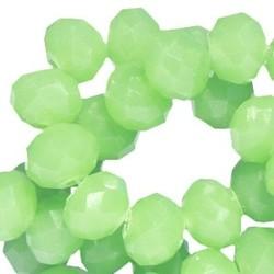 Geslepen Rondelle 3x4mm Green Opal 10 stuks voor