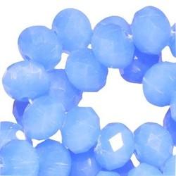Polierte Rondelle 3x4mm Sapphire Blue Opal 10 für