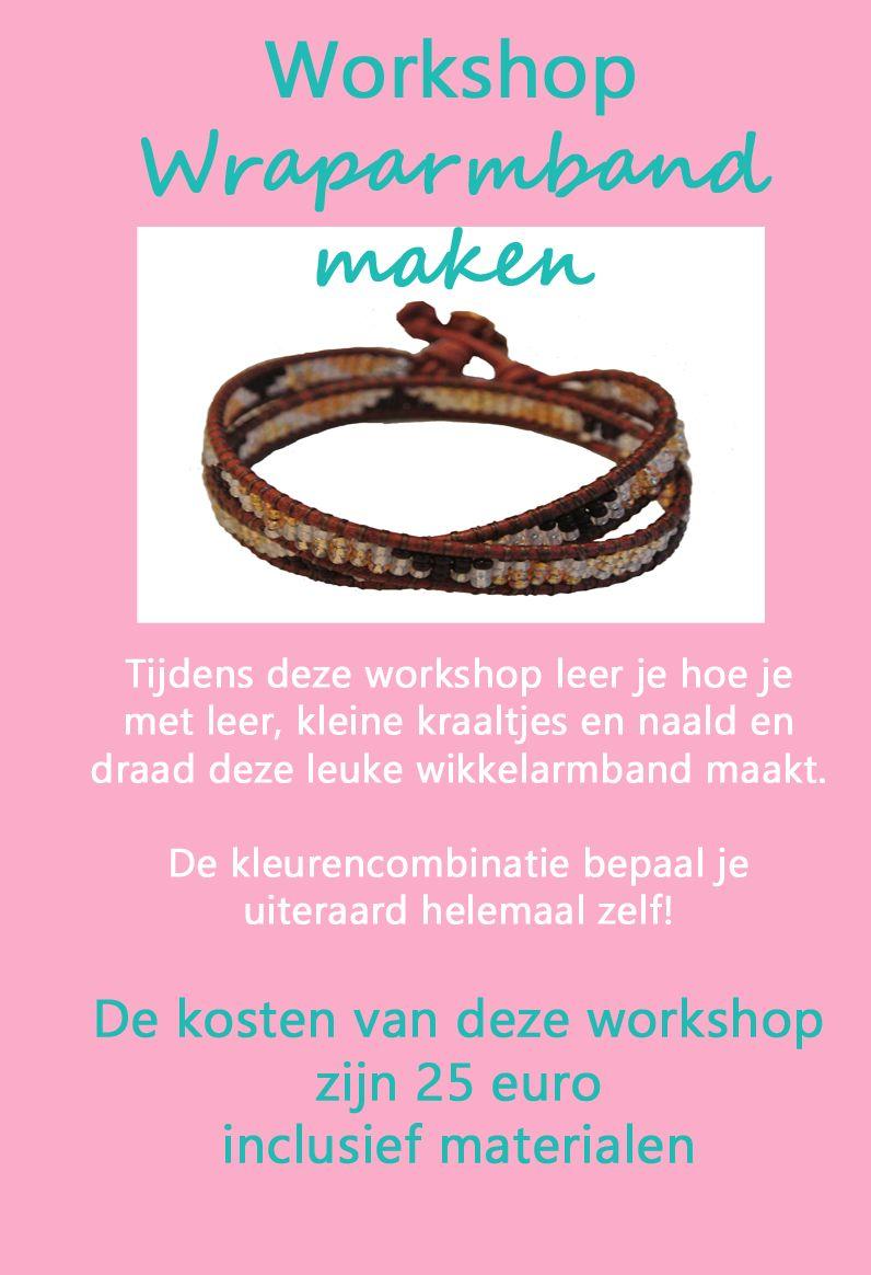 Workshop Wraparmband maken