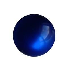 Polariskraal Donkerblauw Shiny 10mm. Rond.