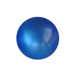 Polariskraal Safierblauw. Shiny 10mm. Rond.