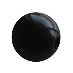 Polariskraal Zwart Shiny 10mm. Rond.