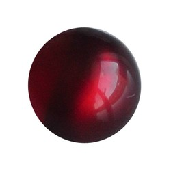 Polariskraal Donkerrood Shiny 20mm Rond