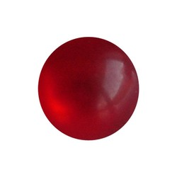 Polaris bead 20mm Light Red Shiny Round