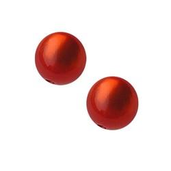 Polaris Perle 10mm orange glänzende Rund