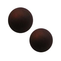 Polaris Perle 8mm dunkelbraun matt