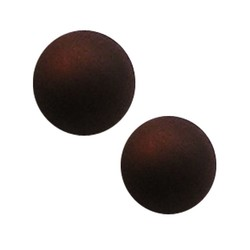 Polaris Perle 14mm dunkelbraun matt