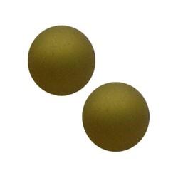 Polaris Perle Matte 14mm grünen Olivin
