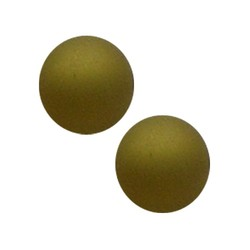 Polariskraal mat 14mm olivine groen