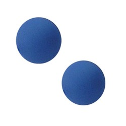 Polariskraal mat 14mm safierblauw