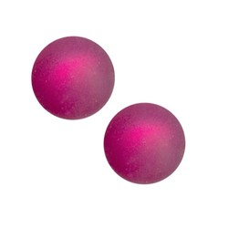 Polaris bead 14mm fuchsia mat