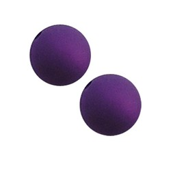 Polaris bead 10mm purple mat