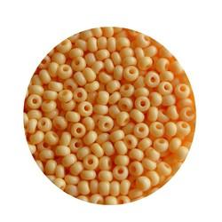 Rocailles Soft Oranjegeel 2.6mm 17 gram in een doosje.