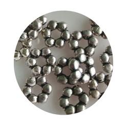Metall-Korn-Distanzscheiben 8mm Silber.