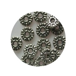 Metal bead Spacer 9mm Silver.
