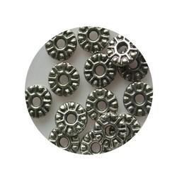 Metallperle Spacer 9mm Silber.