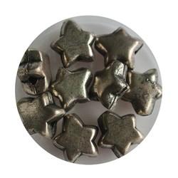 Metallhohlperle 5x10mm Silver Star.