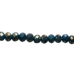 Geslepen Rondelle 3x2mm Dark Blue AB