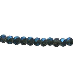 Cut Rondelle 3x2mm Dark Blue Luster