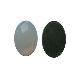 Flatback Acrylic 13x18mm. Oval White Opal. (For cabinet 27504.03)