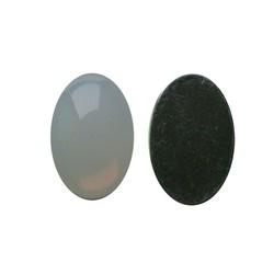 Plaksteen Acryl 13x18mm. Ovaal White Opal. (voor kastje 27504.03)