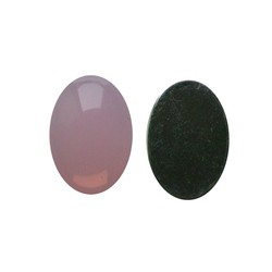 Flatback Acrylic 13x18mm. Oval Pink Opal. (For cabinet 27504.03)