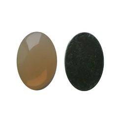 Plaksteen Acryl 13x18mm. Ovaal Zand Opal. (voor kastje 27504.03)