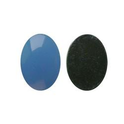 Flatback Acryl 13x18mm. Oval Blue Opal. (Für Schrank 27.504,03)