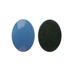 Flatback Acrylic 13x18mm. Oval Blue Opal. (For cabinet 27504.03)