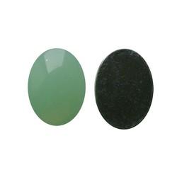 Plaksteen Acryl 13x18mm. Ovaal Lichtgroen Opal. (voor kastje 27504.03)