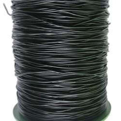 Gummischnur 1mm schwarz pro Meter