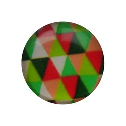 Cabochon Glass with plate at the back 12mm round retro green