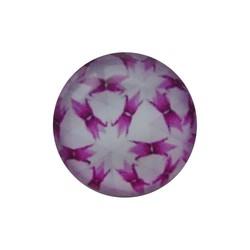 Cabochon Glas met plaatje aan de achterkant Rond 12mm retro lilac