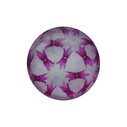 Cabochon Glass with plate at the back 12mm round retro lilac