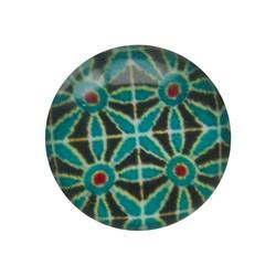 Cabochon Glas mit Platte auf der Rückseite 12mm runden Retro Blumen Benzin