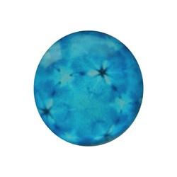 Cabochon Glas mit Platte auf der Rückseite 12mm runden Retro blaue Blumen