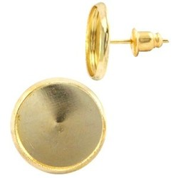 Studs mit einem Bild von 12mm. Gold inkl. hinten. Pro Stück für