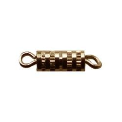 Drehen Sie Verschluss mit Ösen 14mm Gold-